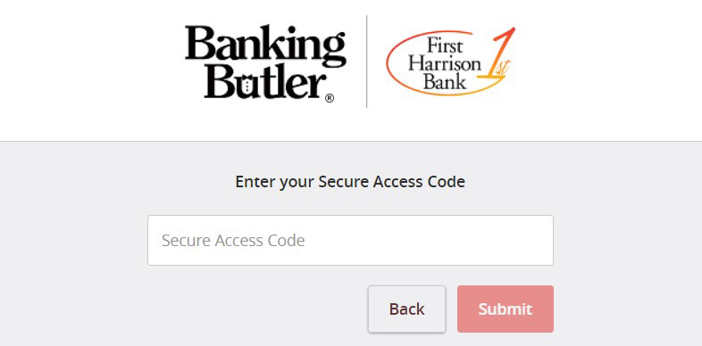 Login - Enter Secure Access Code