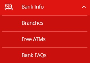 How-To Menus - Bank Info