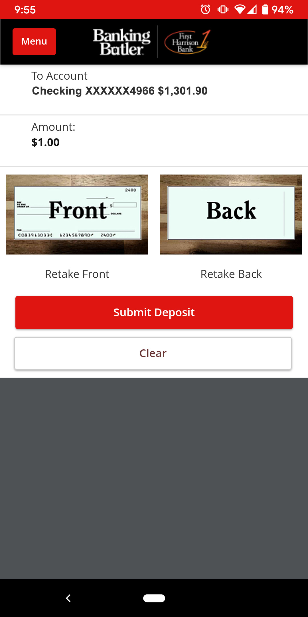 How-To Services - Cinch Deposits Picture of Checks