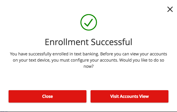 How-To Services - Text Enrollment Successful Enrollment