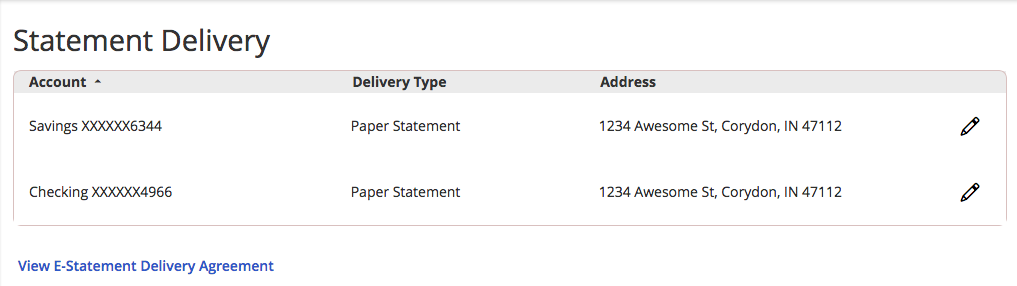 How-To Services - Statement Delivery Screen