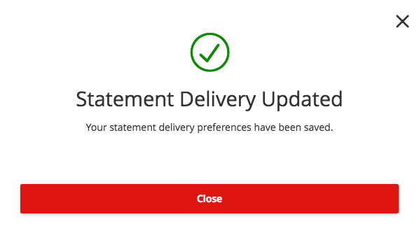How-To Services - Statement Delivery Update Confirmation