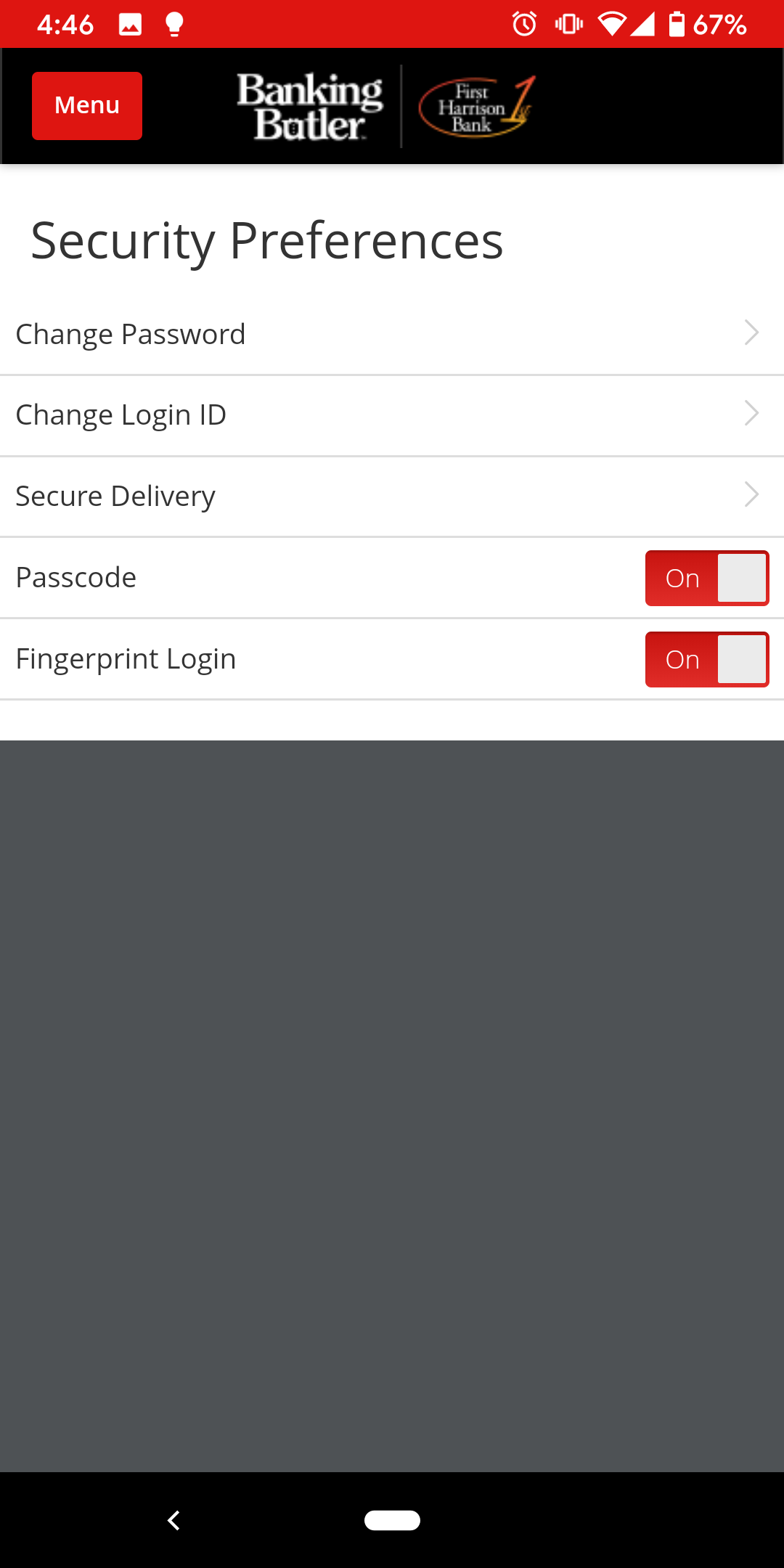 Login - Mobile Login Options Toggle