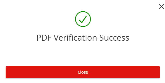 How-To Services - Statements PDF Verification Success
